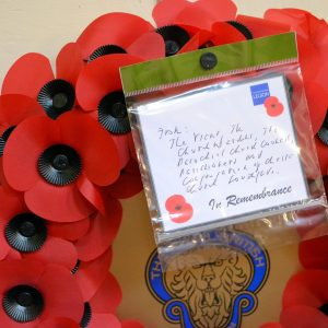 Wreath on Remembrance Sunday