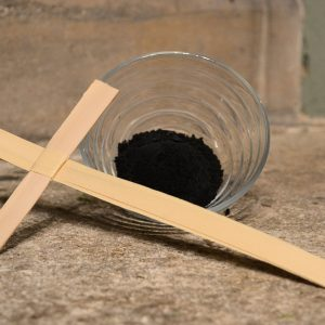 Making Ash for Ash Wednesday