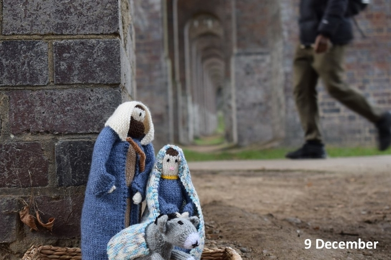 Mary and Joseph under the viaduct