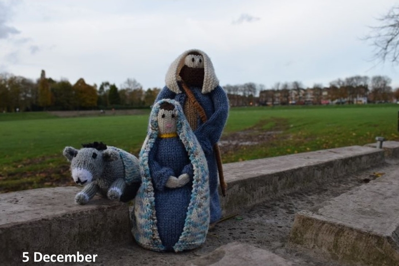 Mary and Joseph in park