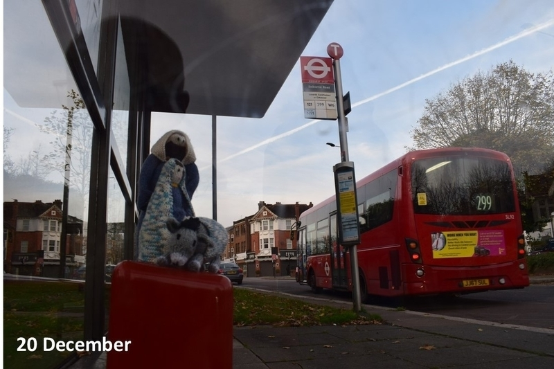 Mary and Joseph at the bus stop