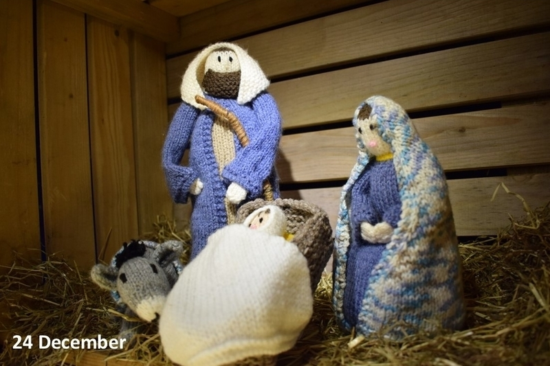Mary and Joseph in the stable